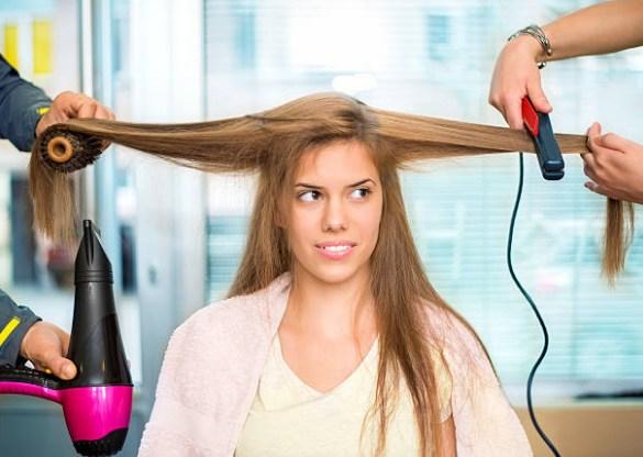 στέγνωμα μαλλιών