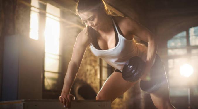 γυναίκα, φυσική κατάσταση, προπόνηση, μύες