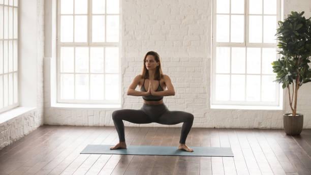 """Yoga Pose """"Goddess"""""""