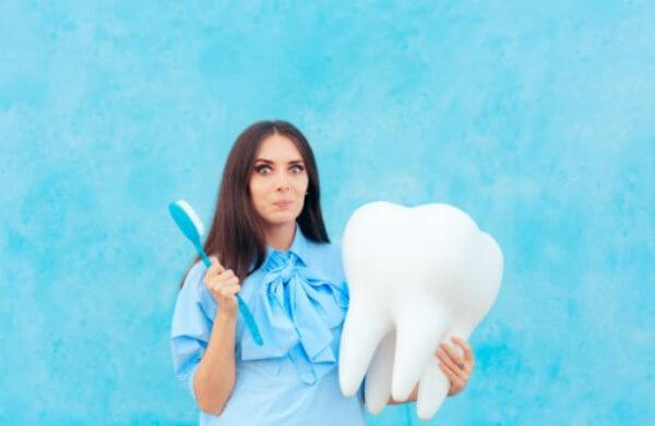 γυναίκα, οδοντόβουρτσα, δόντια