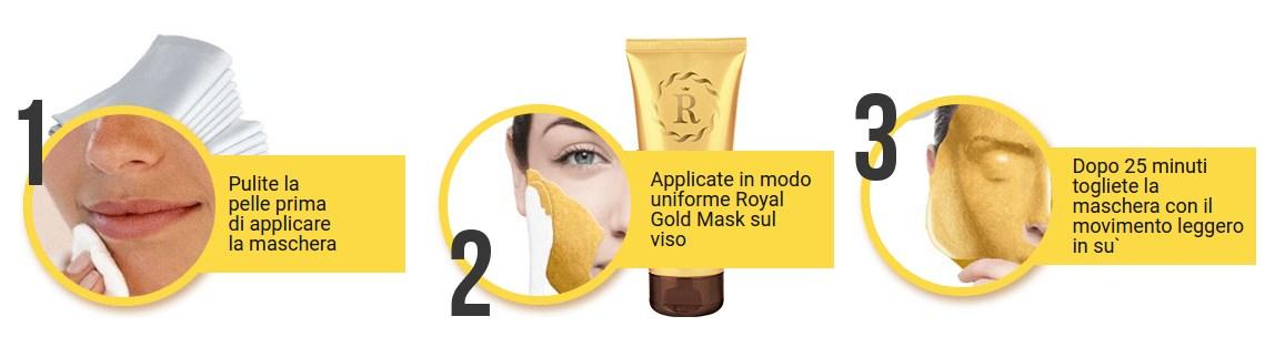 οδηγίες, σαν να εφαρμόζετε Royal Gold Mask