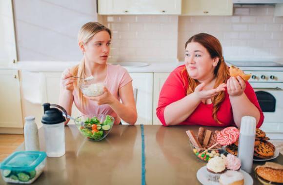 υγιεινό και πρόχειρο φαγητό, γυναίκες